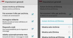 Gmail tasto Elimina